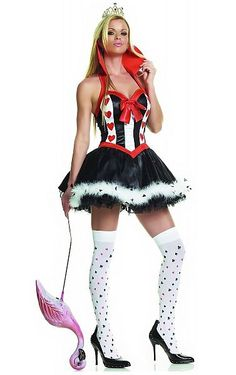 Sexy Queen of Hearts Costume - See more: http://www.internetbet.com/casino-costumes/womens-casino-costumes/  #costumes #costumeideas #queenofhearts #halloweencostumes
