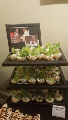 Spinach phyllo cups... Not Enough Thyme Catering (636)235-6094 www.notenoughthymecatering.com  https://m.facebook.com/caterernet  Www.pinterest.com/lgutterman