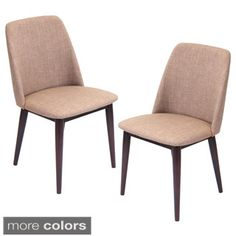 Shop for Tintori Fabric Upholstered Mid-century Style Dining Chairs (Set of 2)…
