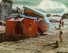 camping on the beach out of a VW bus and a tent :) Vw Campervan Hire, Vw T2 Camper, Vw Bus T2, T3 Vw, Camping In Ohio, Camping Places, Beach Camping, Combi T1, Places In California