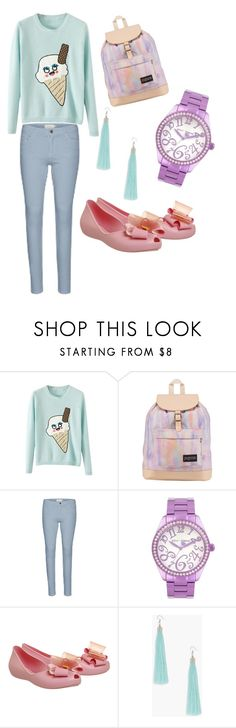"""Untitled #4958"" by martimarisa ❤ liked on Polyvore featuring JanSport, Betsey Johnson, Zaxy and Boohoo"