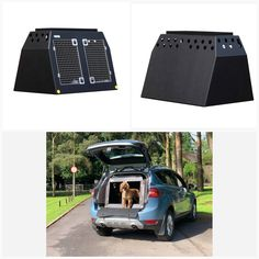DT Box Dog Car Travel Crate- The DT 7 About the DT 7 The DT 7 is a great box for medium sized SUV's with enough room for two small or medium sized dogs or one large dog. It comes with a removable central divider which frees up more space if you need it for a larger dog. The box is made from a super tough lightweight plastic and to make this easy to clean we have included drainage plugs. This model also features a tray on top for holding all your dogs travel accessories such as leads and… Dog Travel Crate, Car Travel, Big Dogs, Large Dogs, Dog Travel Accessories, Pet Vet, Dog Crates, Stainless Steel Doors, Medium Sized Dogs