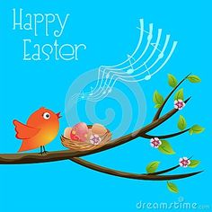 Bright and funny vector illustration. Happy Easter holiday