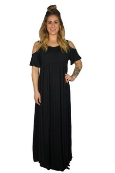 LATE SUMMER NIGHTS MAXI DRESS $39  #apricotlane #apricotlanebismarck #womenstyle #womenfashion #fashion #style #trends #liketkit #top #newarrival #musthave #dress #cold shoulder #maxi #maxidress #dresses #weddings #formal #casual #summerdress