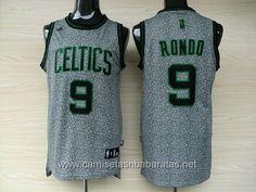 camisetas NBA Boston Celtics gris #9 Rondo €23.99