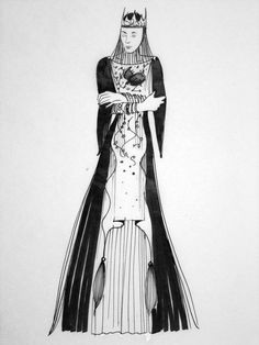Queen Ravenna by Costume Designer Colleen Atwood, Snow White and the Huntsman    these sketches were originally posted here.