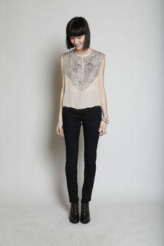 Fashion / TOTOKAELO - Wood Wood - High Waist Slim Fit Jean - Black