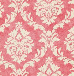 PREORDER... Verna Mosquera for Free Spirit, Pirouette, French Damask in flamingo, Ships in December. $7.88, via Etsy.