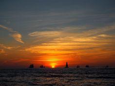 Der Sonnenuntergang von Key West