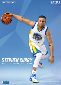 3ce6cdef3b70 Enterbay NBA Collection Stephen Curry Motion Masterpiece Action Figure  Scale) From Enterbay. This excellent figure features a museum-quality Stephen  curry