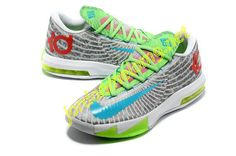 newest 62915 bc9d4 Nike KD VI Supreme DC Preheat Gamma Blue Dusty Grey Flash Lime 618216 400  Kd Shoes