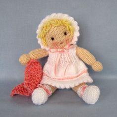 Little Daisy doll knitting pattern INSTANT DOWNLOAD por dollytime