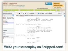 Scripped - Free Screenwriting Software