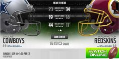 Watch Cowboys vs Redskins Live Stream, Game info, strat time, Prediction http://watchcowboysvsredskinslive.com/