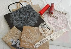 Oh - that's what I should do with those left over doilies!  Beautiful packaging.