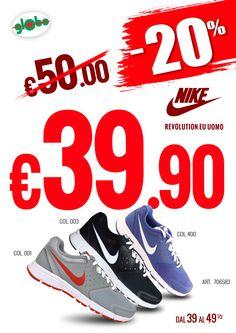 Super offerta! NIKE REVOLUTION nei tre colori di punta (001-003-400) a solo €39.90