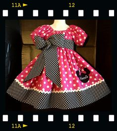 Custom Made Minnie Mouse DRESS Embroidered  by livewholly4him, $55.00