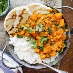 Sweet potato, kale & cashew korma — Anett Velsberg