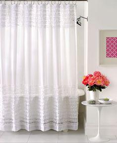 Creative Bath Accessories, Sheer Ruffles Shower Curtain - Shower Curtains & Accessories - Bed & Bath - Macy's
