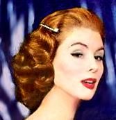 50S Pinup Hairstyles | And yes, we actually slept in curlers androllers. Don't ask me how ...