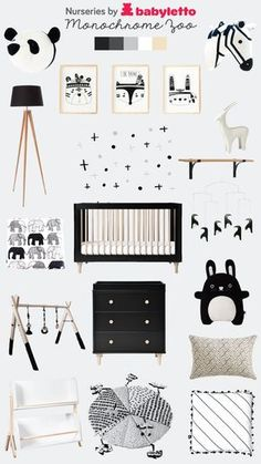 Monochrome Nursery by Babyletto