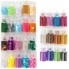 High Quality Professional Manicure Nail Art Glitters And Caviar Beads Sparkles Decorations Set Kit By VAGA® VAGA http://www.amazon.com/dp/B00L673BEI/ref=cm_sw_r_pi_dp_cgcTub11GA674