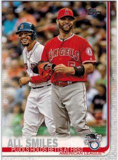 2019 Topps #295 All Smiles / Albert Pujols / Mookie Betts - Baseball Card