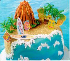 Beach Cake with volcano
