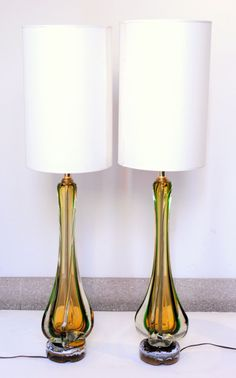 Murano Glass Lamps, Vintage