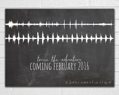 Twins Pregnancy Announcement - Twin - Ultrasound Heartbeat - Sound Wave Art - New Baby - Gender Reveal - Printable JPEG - Baby On the Way