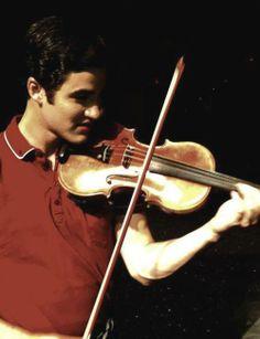 Darren Criss and a violin