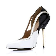 Elegant Patent Leather Stiletto Heel Pointy Toe Pumps Party / Evening Shoes – CAD $ 105.97