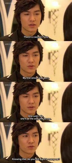 Gu Jun Pyo (Boys Before Flowers) about his love for Jan Di to Ha Jae Kyung