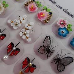 Manicure, Nails, Nail Arts, Nail Designs, Alice, Stud Earrings, Stickers, Bright Toe Nails, Multicolored Nails