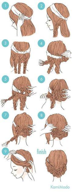 Trendy Hairstyles Headband Updo Hairdos - Trendy Hairstyles Headband Updo Hairdos In - Everyday Hairstyles, Trendy Hairstyles, Braided Hairstyles, Hairstyles Videos, Updo With Headband, Headband Hairstyles, Kids Hairstyle, Style Hairstyle, Wedding Hairstyle
