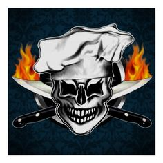 Customizable Chef Skull Poster