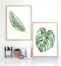 Aquarelle Tropical Leaf Toile Art Print Affiche, mur Photos pour La Décoration, giclée Mur Décor CM011 4 & 5 dans Peinture et Calligraphie de Maison & Jardin sur AliExpress.com | Alibaba Group