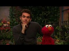 John Mayer - Nothing Cute is About to Happen...just the most heartwarming, adorable sight - JM and Elmo!
