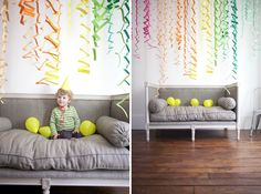 easy zigzag streamers for birthdays! (the whole blog is awesome for party planning)