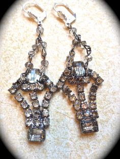 Vintage assemblage  Shoe Clip,Chandelier Earrings, Victorian Earrings Downton Abbey, Great Gatsby Style by jnpvintagejewelry. Explore more products on http://jnpvintagejewelry.etsy.com