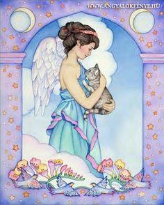 Angyali imák: Ima egy elveszett állatért Dot Painting, Painting & Drawing, Unicorns And Mermaids, Doreen Virtue, Biblical Art, Pet Loss, Rainbow Bridge, Cherub, Vintage Pictures