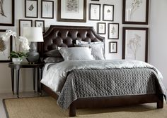 Alison Leather Bed, Quick Ship ,  , large_gray