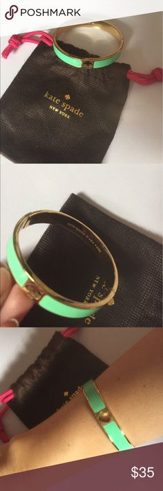 Kate Spade Bangle NWOT. Will come with dustbag. kate spade Jewelry Bracelets