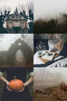 """oftalonsandteeth: Misty Autumn Aesthetic They. - Batty in the Graveyard oftalonsandteeth: """" Misty Autumn Aesthetic """"They belong to the category of half-things: mist, smoke, sh Halloween Tags, Fall Halloween, Vintage Halloween, Halloween Inspo, Creepy Halloween, Halloween Pictures, Happy Halloween, Peclers Paris, Autumn Cozy"""