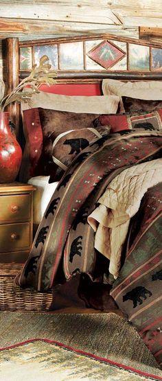Gallatin Bear Rustic Bedding