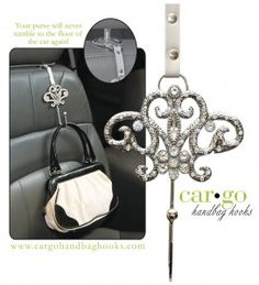 Car bling that adds space and protects your purse.- Got one for Christmas. Use it all the time. Love it!
