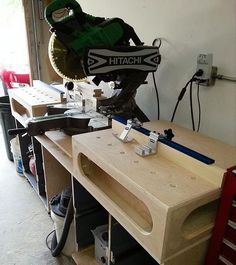 Paulk Miter Saw Workbench. Good idea to just build boxes.