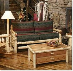 how to build log furniture plans