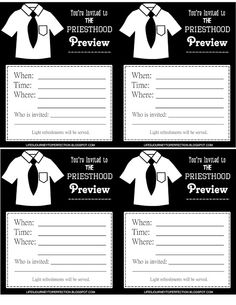 LDS Priesthood Preview Ideas and Printables