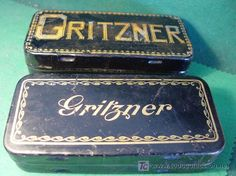GRITZNER - DOS CAJAS METAL DE MAQUINA COSER - ANTIGUAS - estalcon@gmail.com Metal Box, Vintage, Old Crates, Tin Cans, Souvenirs, Dressmaking, Vintage Comics